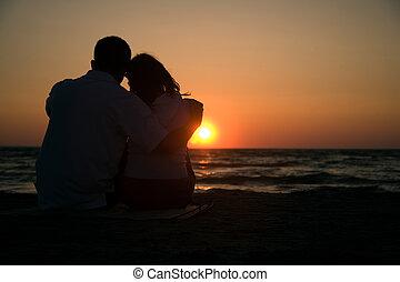romaans, ondergaande zon