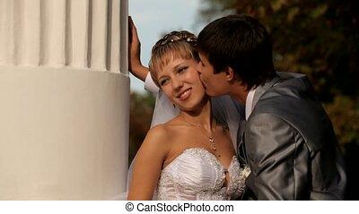 romantische, kus