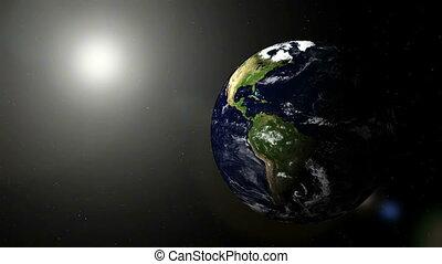 ronddraaien, aarde