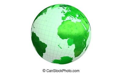 ronddraaien, aardebol, groene