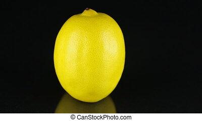ronddraaien, achtergrond., citrus., citroen, black