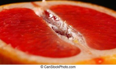 ronddraaien, black , grapefruit, achtergrond, helft