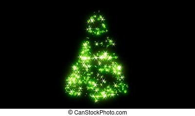 ronddraaien, groene, vorm, boompje, kerstmis