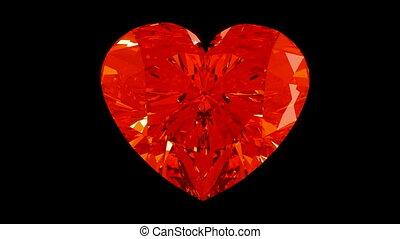 ronddraaien, hart, diamant, of, loopable