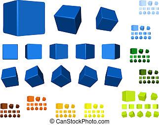 ronddraaien, kleuren, blokje