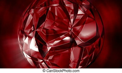 ronddraaien, seamless, motie, kristal, achtergrond, robijn, lus