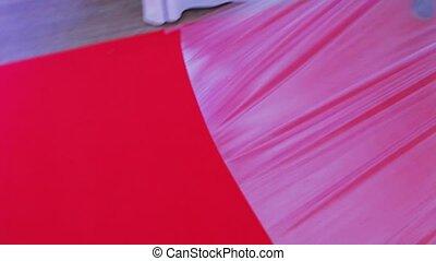 rood, verwijderen, film, tapijt