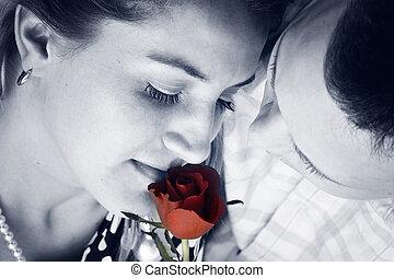 roos, paar, rood