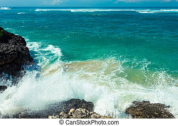 rots, verpulveren, vormen, golven, verbreking