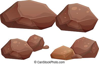 rotsen, groot, kleine
