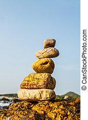 rotsen, kust, zee, natuur