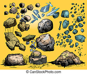 rotsen, stenen