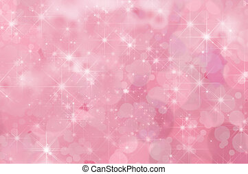 roze, abstract, ster, achtergrond