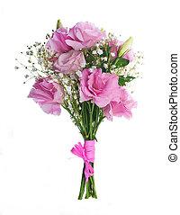 roze, bouquetten, floral, achtergrond, rozen