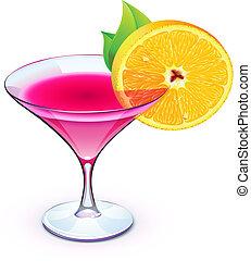 roze, cocktail