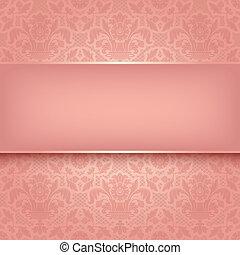 roze, decoratief, weefsel, tien, eps, vector, achtergrond, texture.