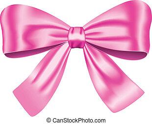 roze, geschenk buiging