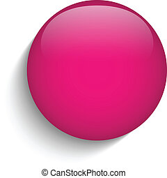 roze, glas, cirkel, knoop, pictogram