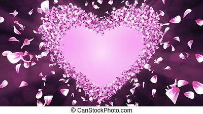 roze, hart, bloem, roos, vorm, kroonbladen, matte, sakura, alfa, placeholder, lus, 4k