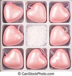 roze, hart formeert