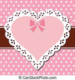 roze, hart, kant