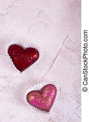 roze, hart, zoet, plek, tekst, rood