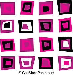 roze, model, seamless, retro, achtergrond, pleinen, of