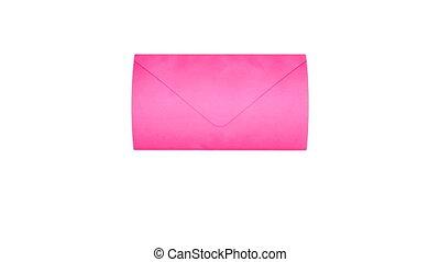 roze, post, liefde