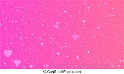 roze, purper viooltje, achtergrond, hartjes