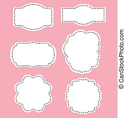 roze, romaans, witte , etiketten, achtergrond