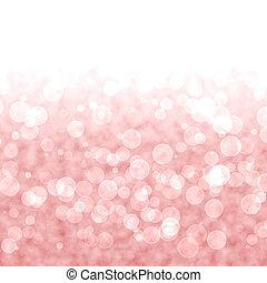 roze, vibrant, lichten, bokeh, rode achtergrond, of, blurry