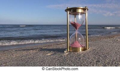 roze, zand zee, hourglass