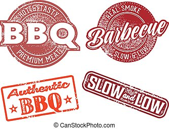 rubber, barbecue, ouderwetse , bbq, postzegel