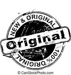rubberstempel, origineel