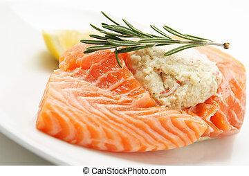 salmon, volgestopt