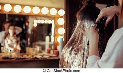 salon, meisje, beauty