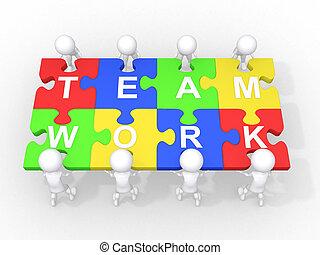 samenwerking, teamwork, concept, bewindvoering