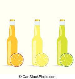 sap, vector, fles, illustratie