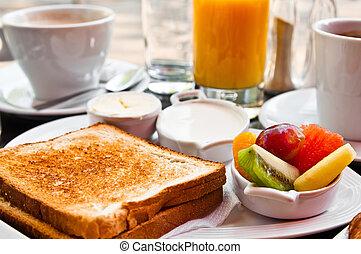 sap, verse vruchten, sinaasappel, tafel, ontbijt