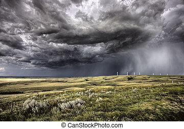 saskatchewan, wolken, storm