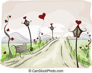 scène, valentijn