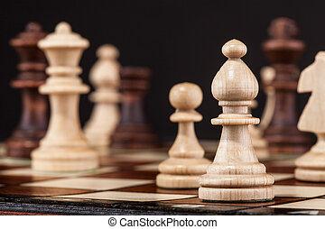 schaakspel bord