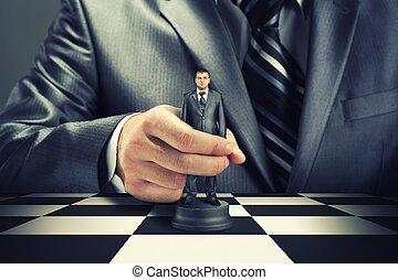 schaakspel, zakelijk