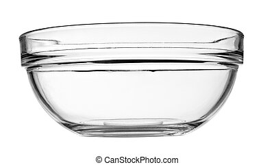 schaaltje, glas kom, transparant