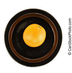 schaaltje, sinaasappel, portie, black , vrijstaand