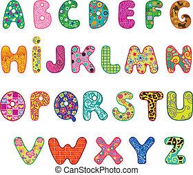 schattig, alfabet