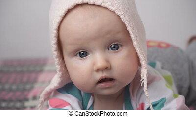 schattig, close-up, baby, weinig; niet zo(veel), gezicht