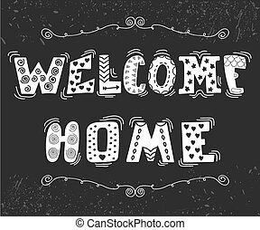 schattig, communie, tekst, welkom, ontwerp, thuis