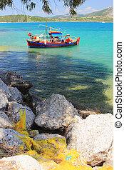 scheepje, ionian, visserij, zee