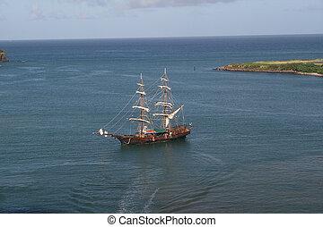 scheeps , reproductie, de caraïben, zeerover